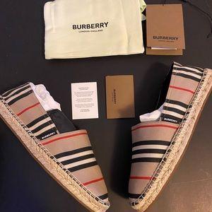 NEW- Burberry Icon Stripe Espadrilles size EUR 40